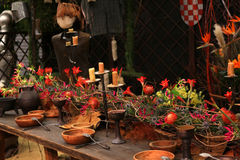 Decoration medieval feast in the castle Royalty Free Stock Photos