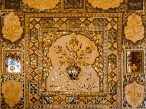Decoration of mirrored silver tiles at Amer Palace Royalty Free Stock Images