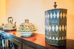Decoration with moroccan style Stock Photos