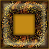 Decoration motley animal pattern, exotic frame, african motif Royalty Free Stock Image