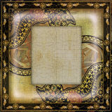 Decoration motley animal pattern,exotic frame,african motif Royalty Free Stock Photos