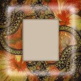 Decoration motley animal pattern,exotic frame Royalty Free Stock Photo