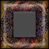 Decoration motley animal pattern, exotoc frame Royalty Free Stock Image