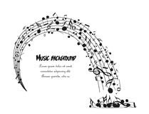 Decoration of musical notes Stock Photography
