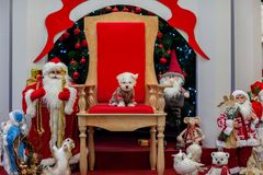 Christmas atmosphere, New Year decorations. santa claus stock photography
