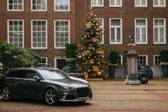 Decoration of the New Year tree. Celebrating Christmas. Happy event, Holidays. stock photos