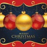Christmas at night studed Stock Image