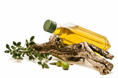 Decoration olive oil Royalty Free Stock Photo