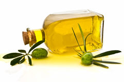 Decoration with olive oil Stock Photography