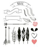 Decoration ornament elements banner ribbon flower. Vector illustration Royalty Free Stock Photo