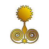 Decoration ornament festive floral golden Royalty Free Stock Photography