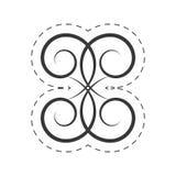 Decoration ornament swirl filigree. Illustration eps 10 Stock Photo