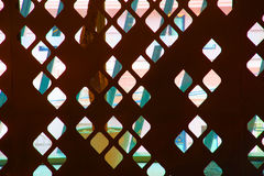 Decoration partition pattern iron. Royalty Free Stock Image