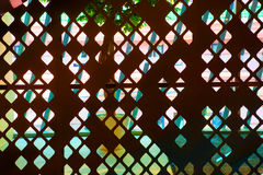 Decoration partition pattern iron. Stock Photos