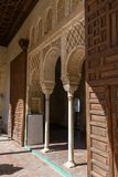 Decoration in Patio de la Acequia in La Alhambra. Granada Spain Stock Photo