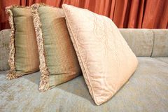 Decoration pillow of natural Fabric Stock Photo