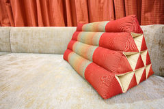 Decoration pillow of natural Fabric Stock Images
