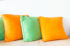 Decoration pillows on sofa Stock Images