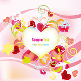 Decoration pink floral heart Royalty Free Stock Images