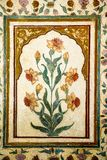 Decoration of precious stones, Taj Mahal walls Stock Photography