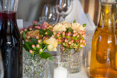 Decoration on a reception table Stock Images