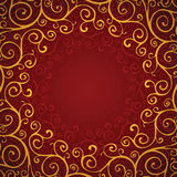 Decoration on a red background Stock Photography