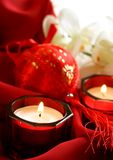Decoration Red Candles Royalty Free Stock Photo
