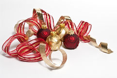 Decoration in red and gold. Christmas decoration in red and gold Stock Image