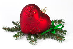 Decoration with red heart Stock Images