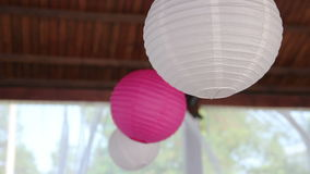 Decoration in the restaurant stock video footage