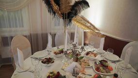 Decoration in restaurant. For the party stock video footage