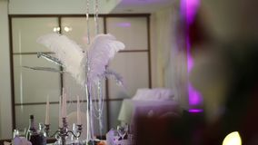Decoration in restaurant. For the party stock footage