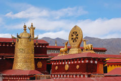 Decoration on roof of  Jokhang temple Royalty Free Stock Photos