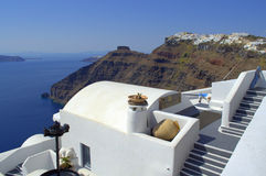 Decoration on the roof,Santorini Royalty Free Stock Image