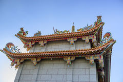 Decoration on the rooftop of a Temple Royalty Free Stock Photo