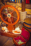 Decoration of the room in a pirate style Royalty Free Stock Photos