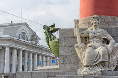 Decoration of a Rostral Column in Saint Petersburg, Russia Stock Images