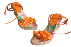 Decoration Sandals. On a white background Royalty Free Stock Photo