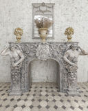 Decoration  Sculpture with French Rococo Style. Royalty Free Stock Image