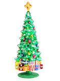 Decoration in the shape of Christmas tree. Decoration of glass in the shape of Christmas tree Royalty Free Stock Images