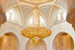 Decoration of the Sheikh Zayed Grand Mosque Royalty Free Stock Photography