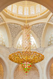 Decoration of the Sheikh Zayed Grand Mosque Stock Photo