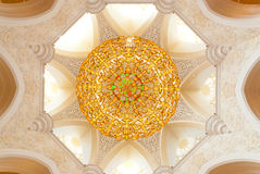 Decoration of the Sheikh Zayed Grand Mosque Royalty Free Stock Photos