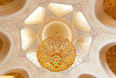 Decoration of the Sheikh Zayed Grand Mosque Stock Images