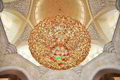 Decoration of Sheikh Zayed Mosque. Abu Dhabi Royalty Free Stock Photography