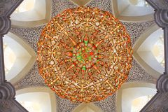 Decoration of Sheikh Zayed Mosque. Abu Dhabi Royalty Free Stock Photo