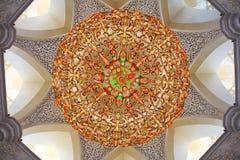 Decoration of Sheikh Zayed Mosque. Abu Dhabi Royalty Free Stock Photo