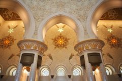 Decoration of Sheikh Zayed Mosque. Abu Dhabi Royalty Free Stock Photos