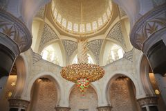 Decoration of Sheikh Zayed Mosque. Abu Dhabi Stock Image