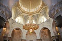 Decoration of Sheikh Zayed Mosque. Abu Dhabi Stock Image